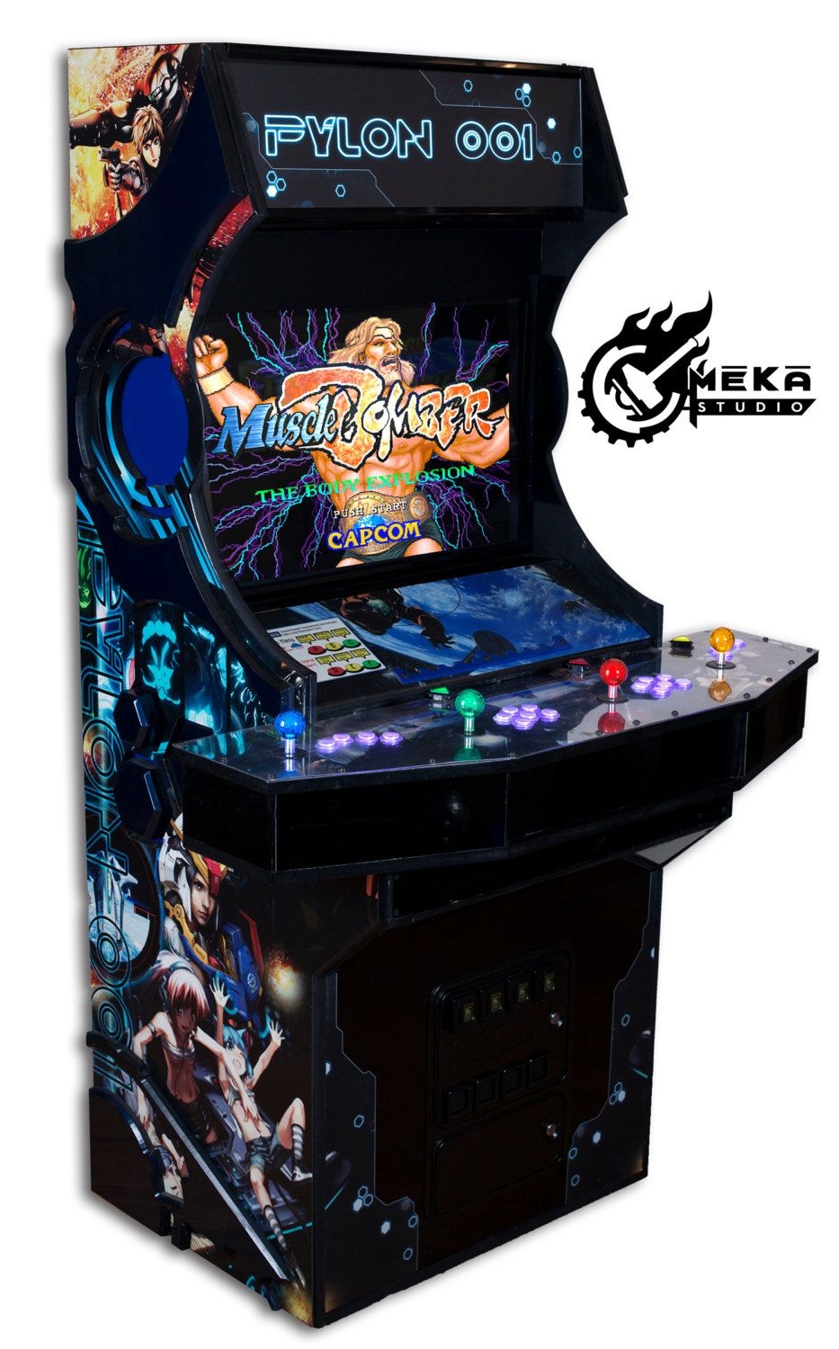 Top 4 player arcade cabinet on re 4 player mame cabinet build photos - Custom 4 Player Arcade Cabinet Hyperspin