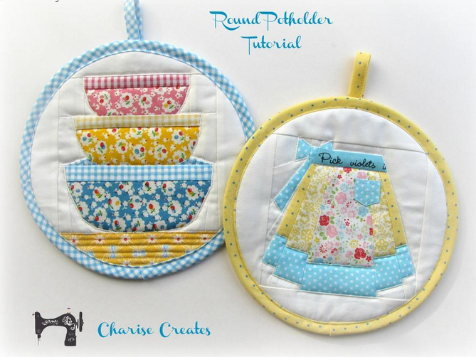 Free Round Potholder Pattern By Charise Randell Sew Whats New