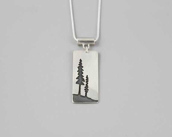 Vintage Sterling Silver Fir Tree Charm Sterling Fir Tree Charm or Pendant