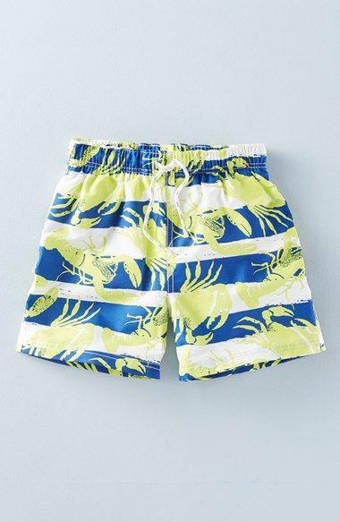 f34fb2f055 Mini Boden 'Bathers' Print Swim Shorts (Toddler Boys, Little Boys & Big…