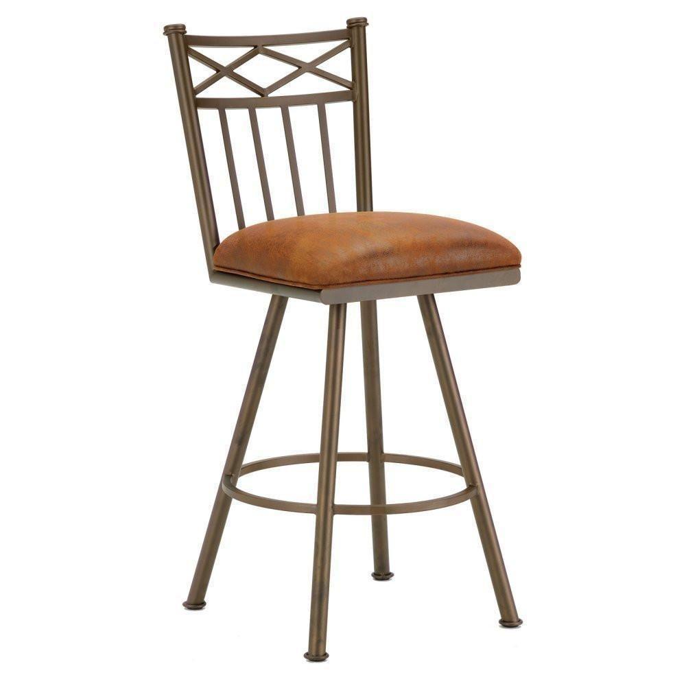 Iron Mountain 1103330 Alexander Swivel Bar Stool 30 Seat Height W Mayflower Cocoa Fabric