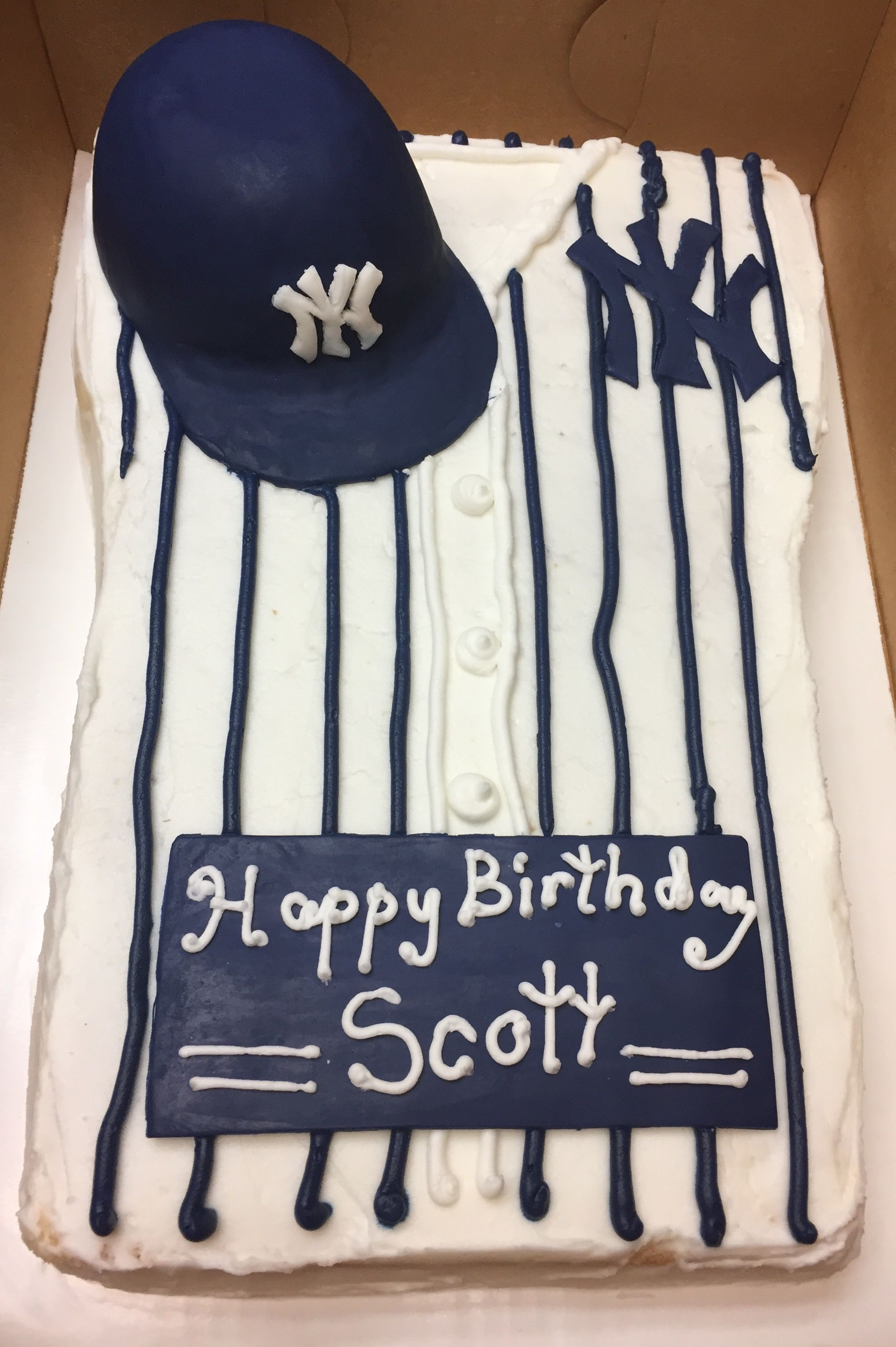 New York Yankees Birthday Cake Yankees Birthday Yankee Cake Princess Cupcakes
