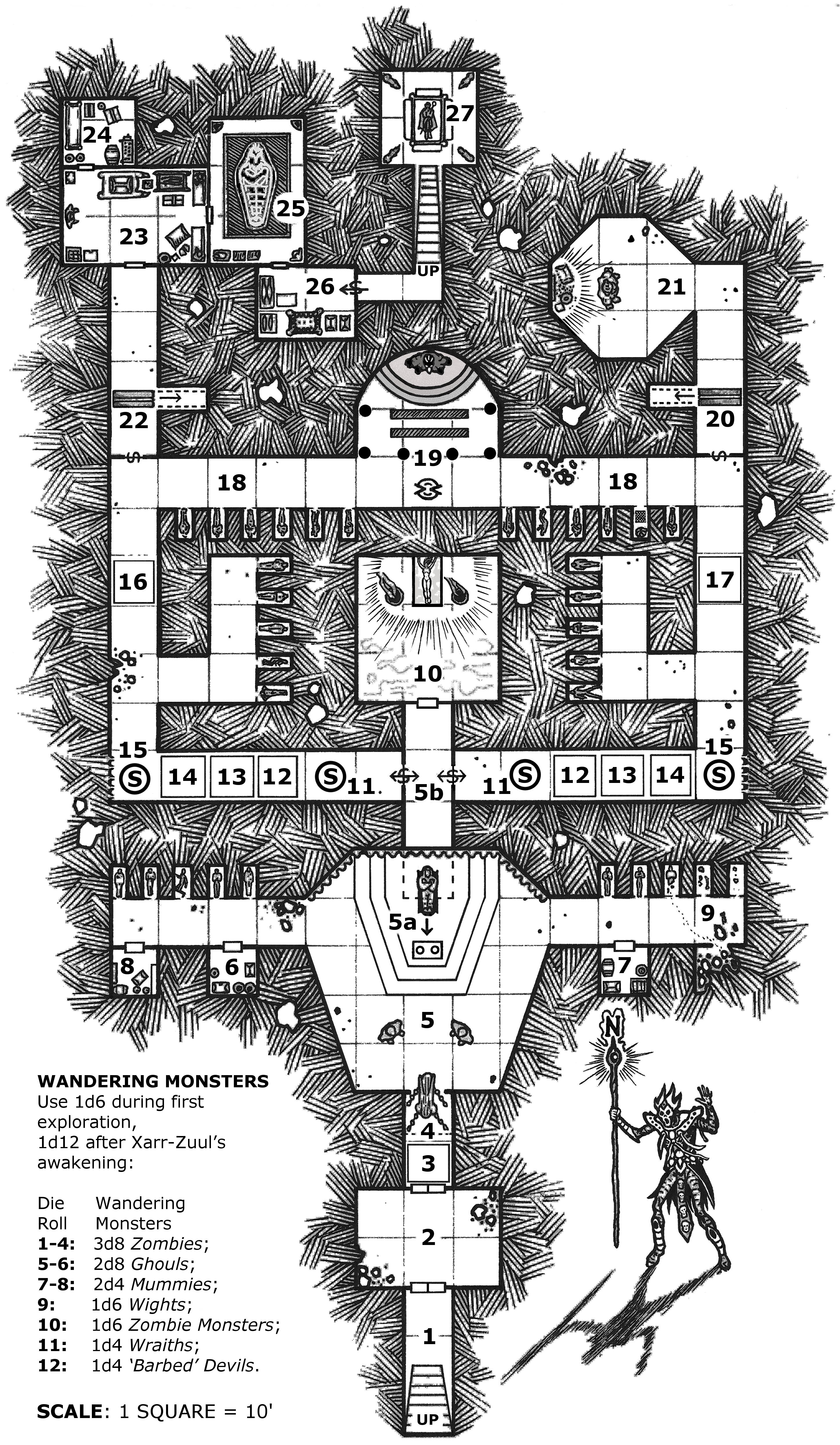 One page dungeon contest 2nd place winner the revenge of for Floor 2 dungeon map