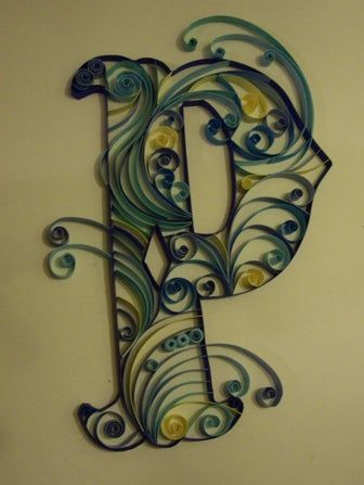 Photo of Quilled Monograms -Cheap, Easy, No Special Equipment