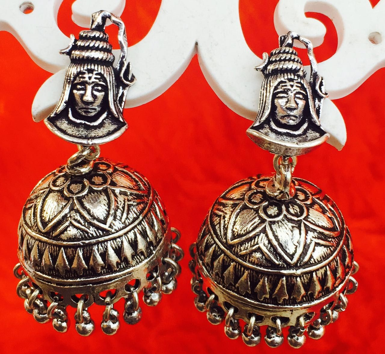 Stylish shiva studded jhumka Christmas ornaments