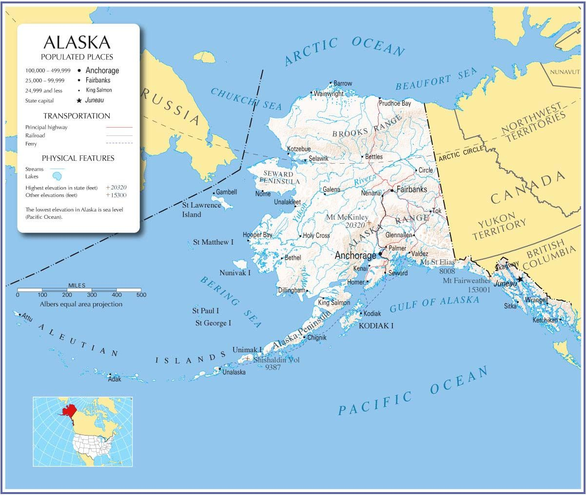 Political Map Of Alaska.Map Of Alaska Usa Map Usa Political Map Usa Highway Map Usa Road