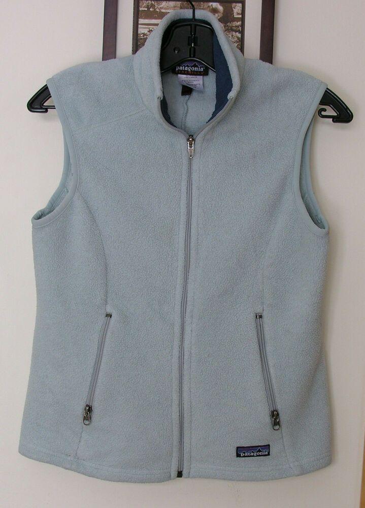 Patagonia Synchilla Baby Blue Color Fleece Vest Sz S