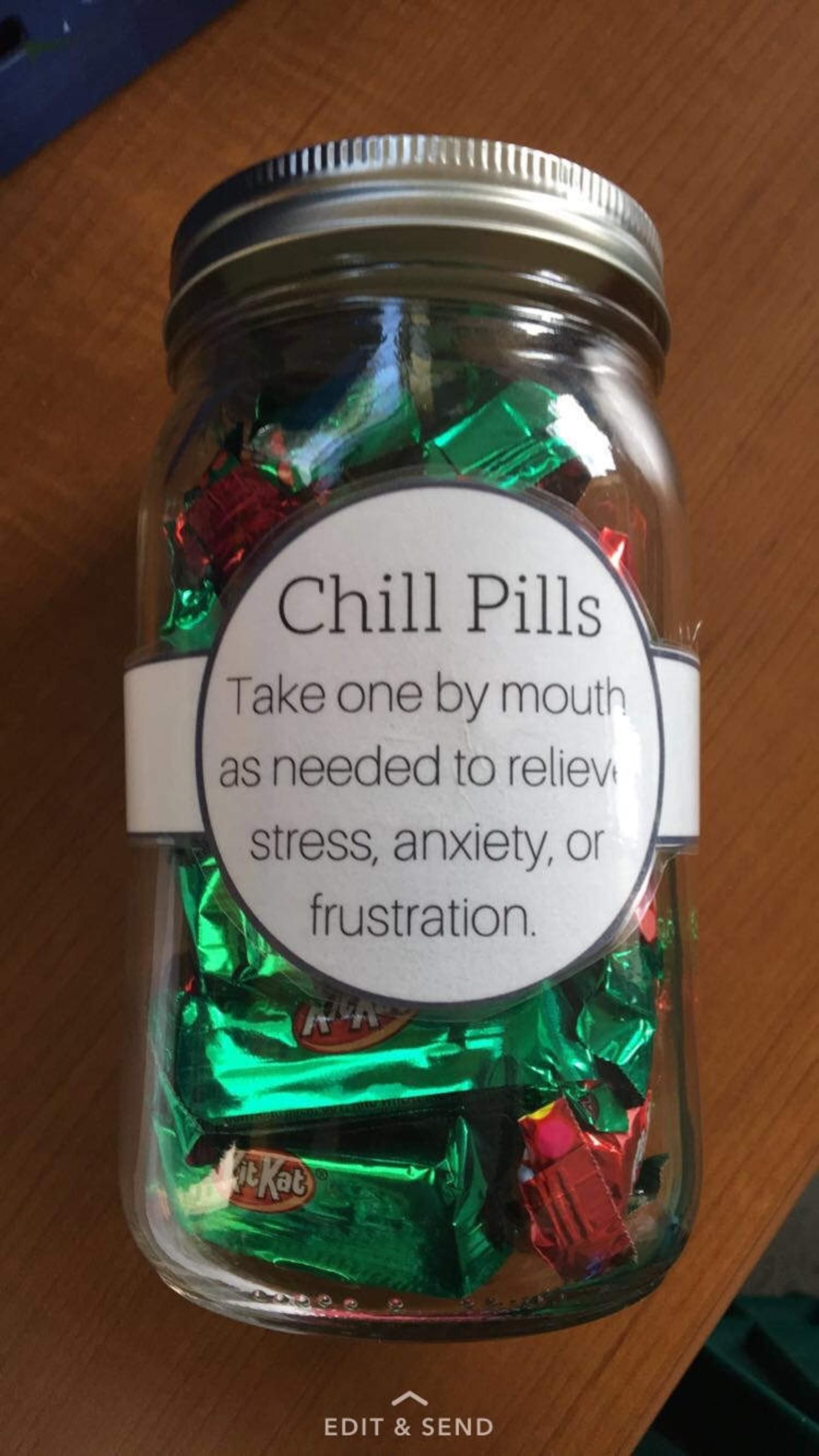 Chill pills etsy coworker birthday gifts christmas