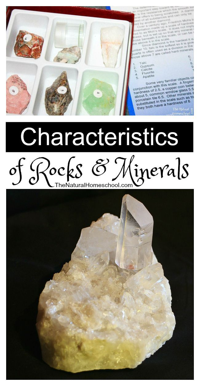 Characteristics of Rocks and Minerals - The Natural Homeschool