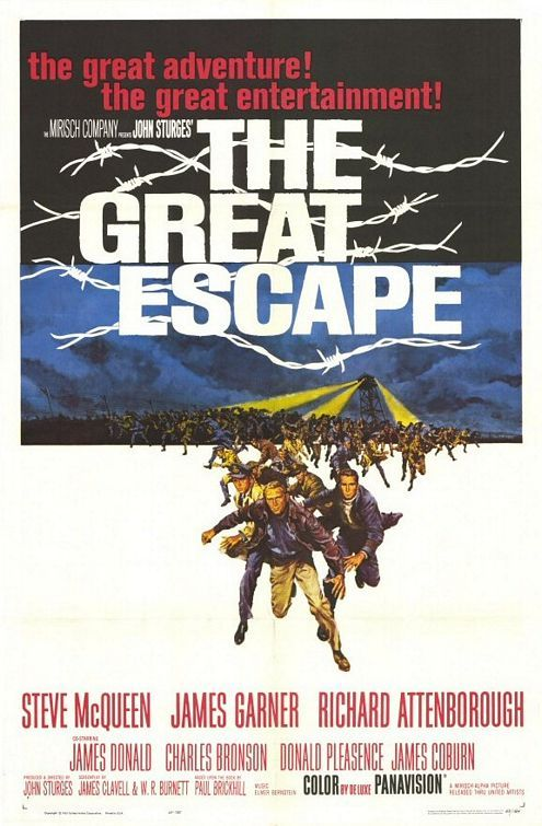 "MP299. ""The Great Escape"" Movie Poster by Frank McCarthy (John Sturges 1963) / #Movieposter"