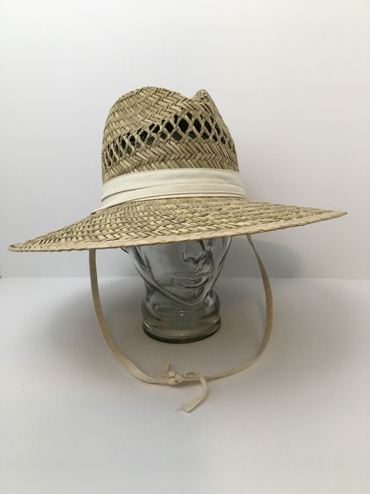 6a84cd2cf4d4f7 Columbia Straw Hat Sun Fishing Outdoors Vented Crown Large Unisex #Columbia  #WideBrim