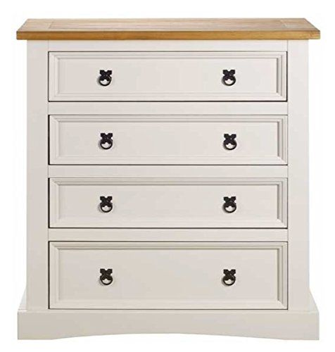 Chest of 4 Drawers Cream Painted Corona Solid Pine Bedroom Furniture  Mexican Two Tone Corona http. Chest of 4 Drawers Cream Painted Corona Solid Pine Bedroom