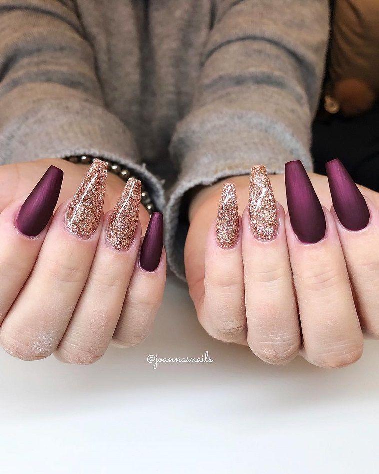 Beautiful nail art design to try this season - long coffin nails , autumn nails ,nail colors, fall nails , nail polis,acrylic nail art