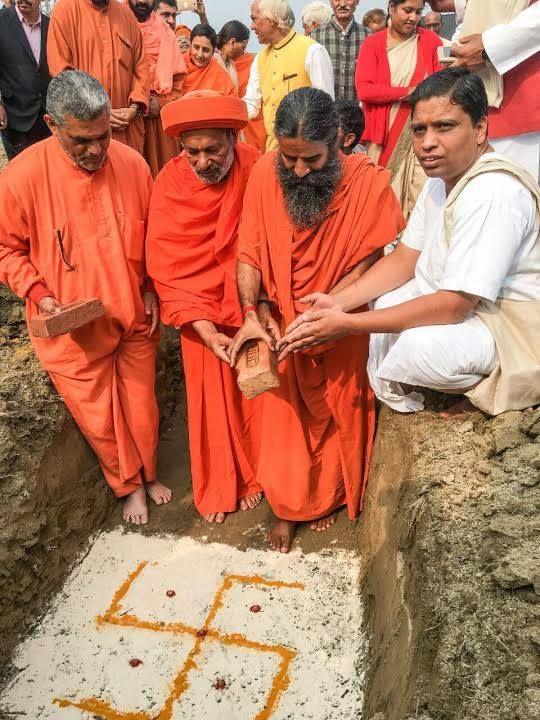 At Patanjali Yogpeeth, Haridwar.