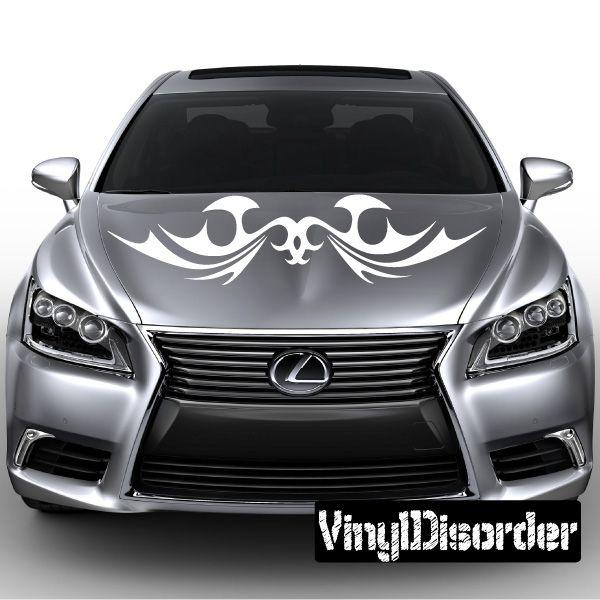Tribal Symmetric Flames Wall Decal Vinyl Decal Car Decal DC - Lexus custom vinyl decals for car