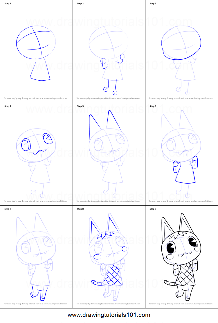 How To Draw Rosie From Animal Crossing Printable Drawing Sheet By