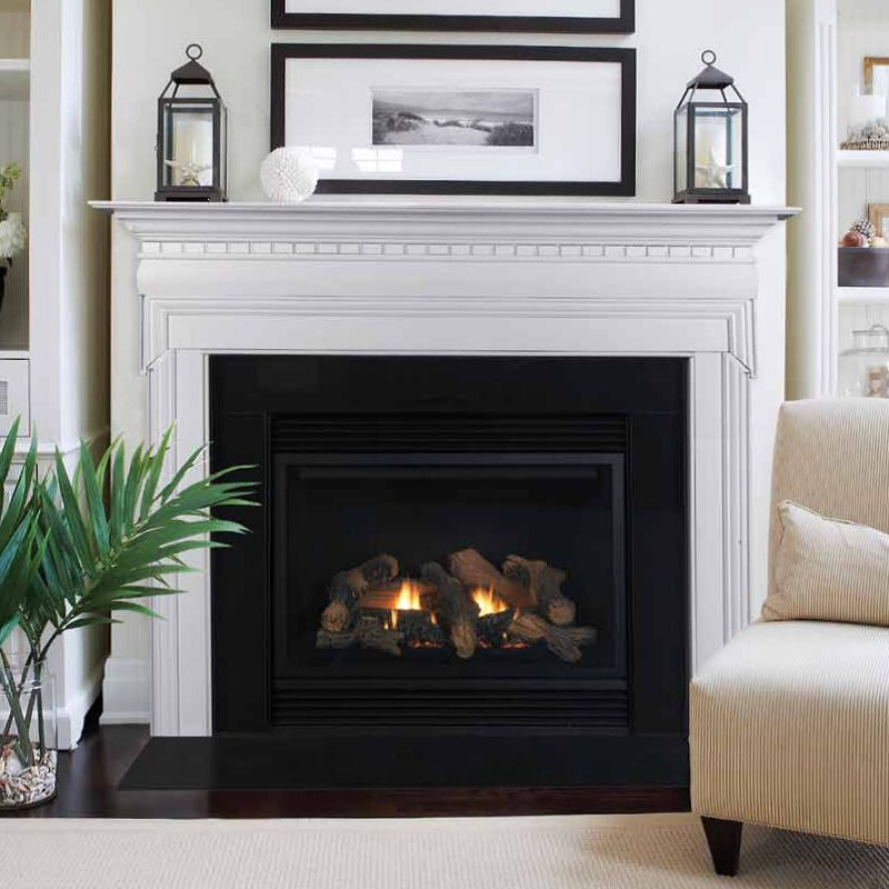 Nothing Warms Up A Space Like A Fireplace Shop Your Fall Inspired Minefind Home Hamptons Living Room Fireplace Mantels