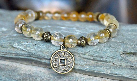 Success Wealth Citrine Bracelet Good Luck Creativity Awakening Prosperity Lucky Money Chakra