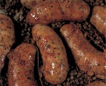 ITALIAN SAUSAGES WITH LENTILS