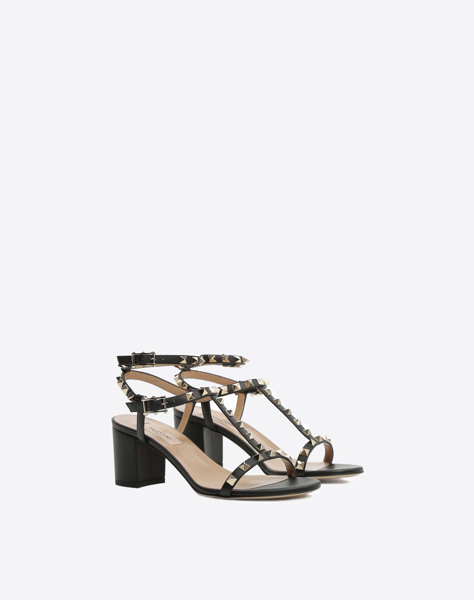 97d78e2643d4 Rockstud ankle strap 60mm Sandal for Woman