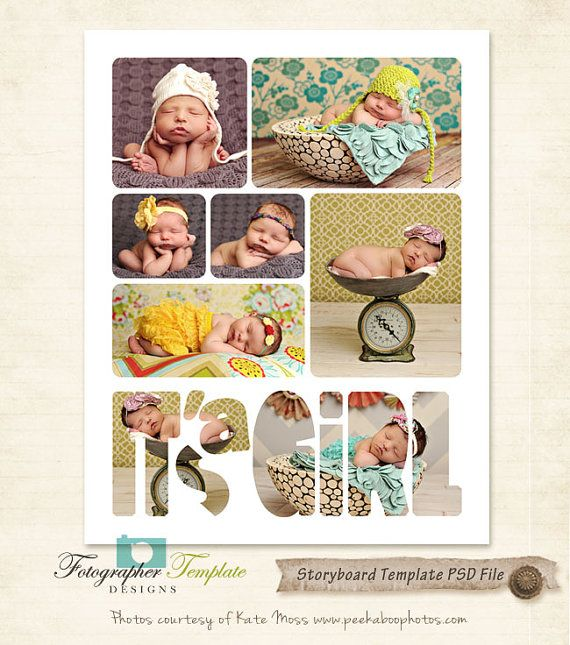 Newborn Storyboard Template X By Photographertemplate On Etsy