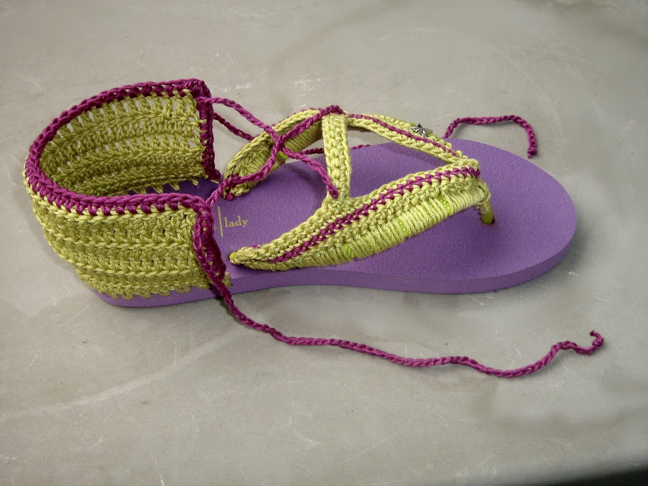 crochet flip flops | *** Gift Ideas *** | Pinterest | Sandalias ...