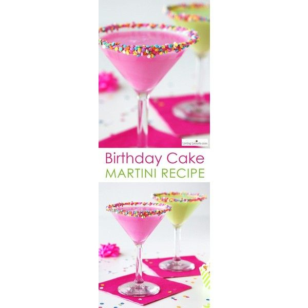 Birthday Cake Martini Recipe Liked On Polyvore Featuring Home