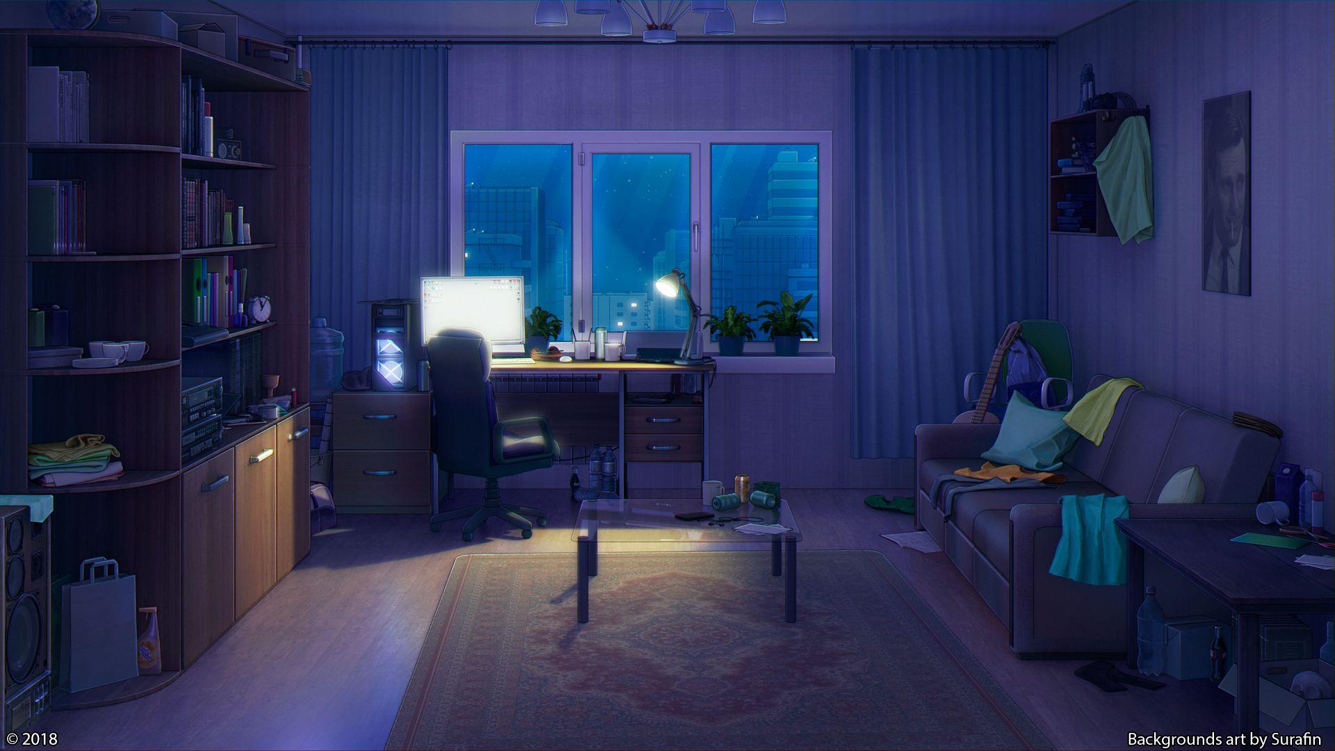 Living Room Night By Surafin On Deviantart In 2020 Living
