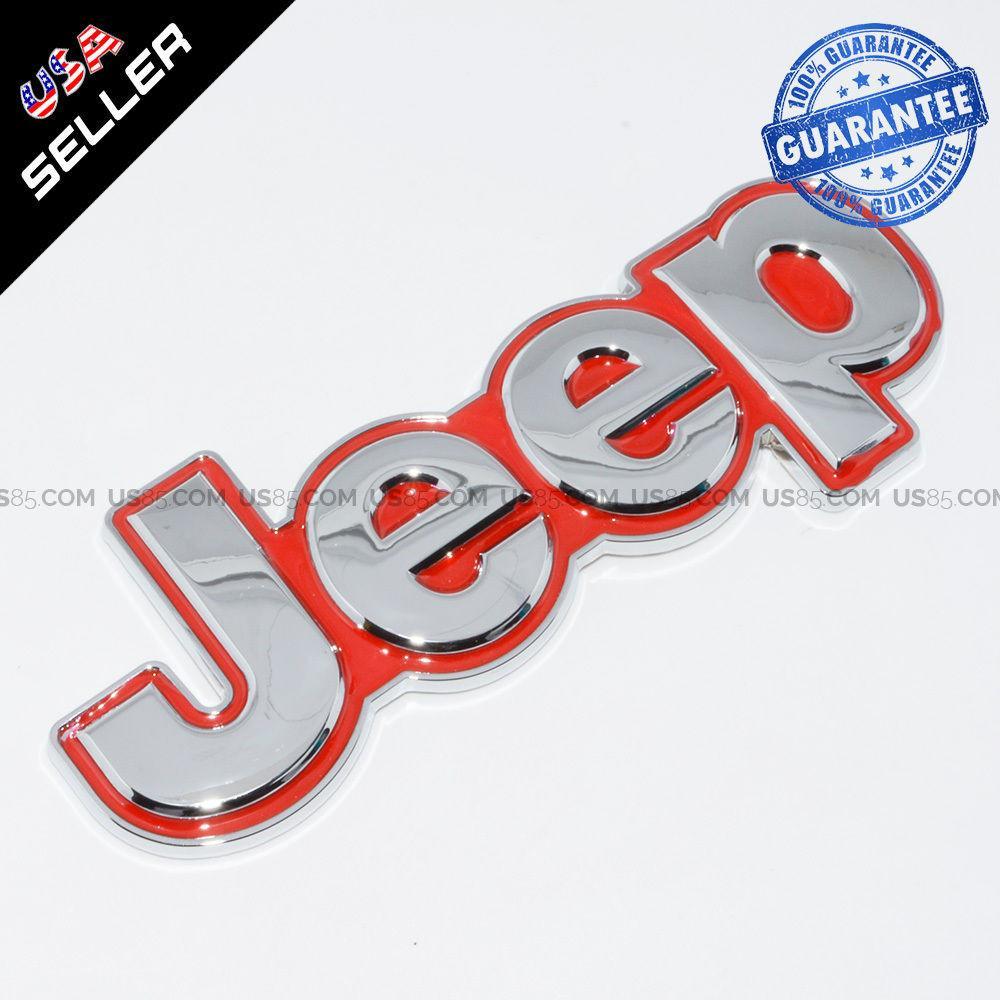 3d New Jeep Metal Trunk Emblem Sticker Logo Car Decoration