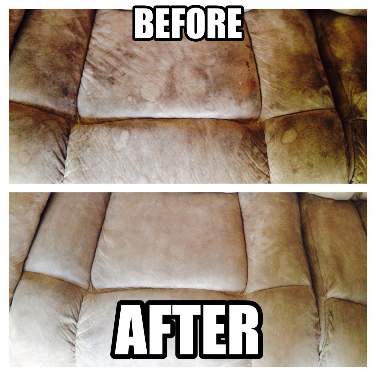 Clean your dingy microfiber couch with household items! 4 parts ...
