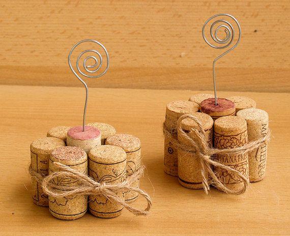 Wine Cork Table Number Holder Photo Holder Or Menu By
