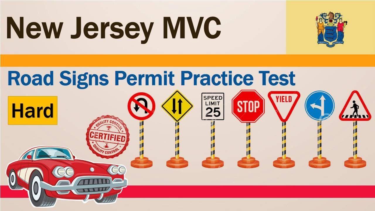 New Jersey MVC Road Signs Permit Practice Test (Hard) | DMV Permit ...