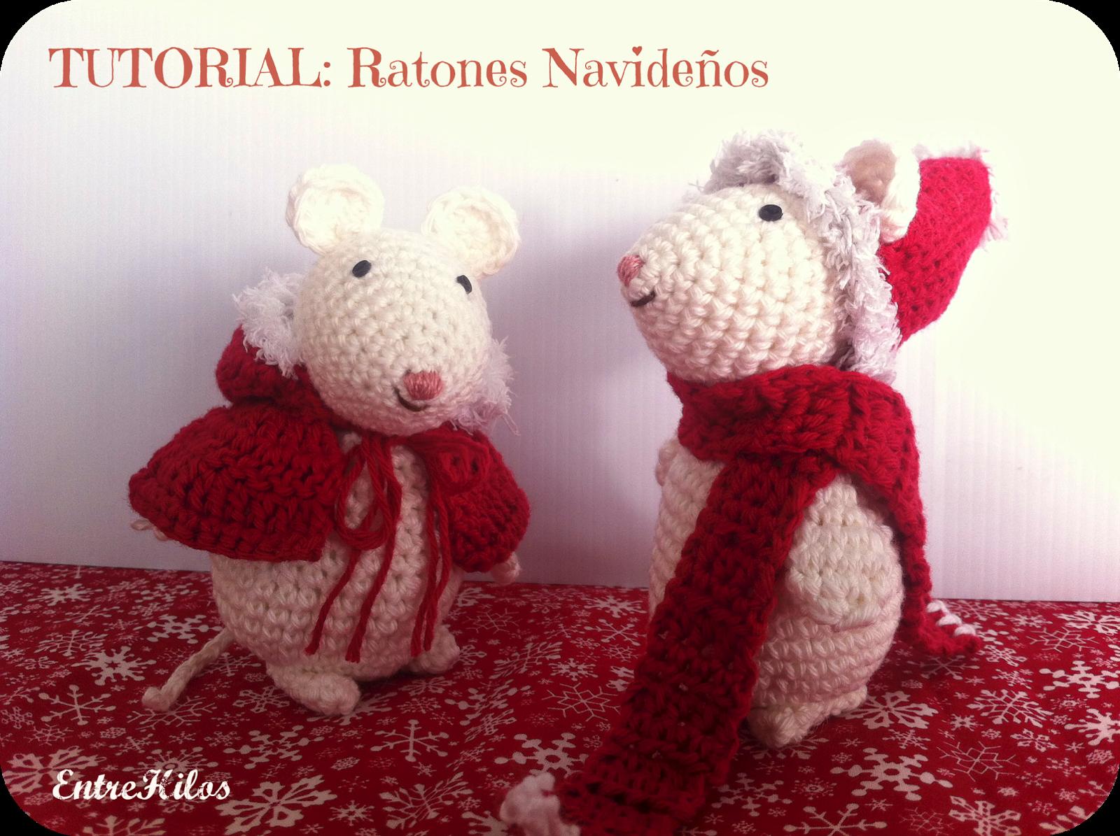 Amigurumi Navidad Nacimiento : Tutorial como hacer ratoncitos amigurumis navideños a crochet