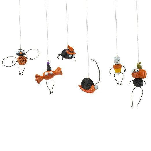 Department 56 ** Halloween Candy Ornaments, Set of 6 ** 4022217 $30.00  Ornament size: 1-1/2 inch to 3 inches