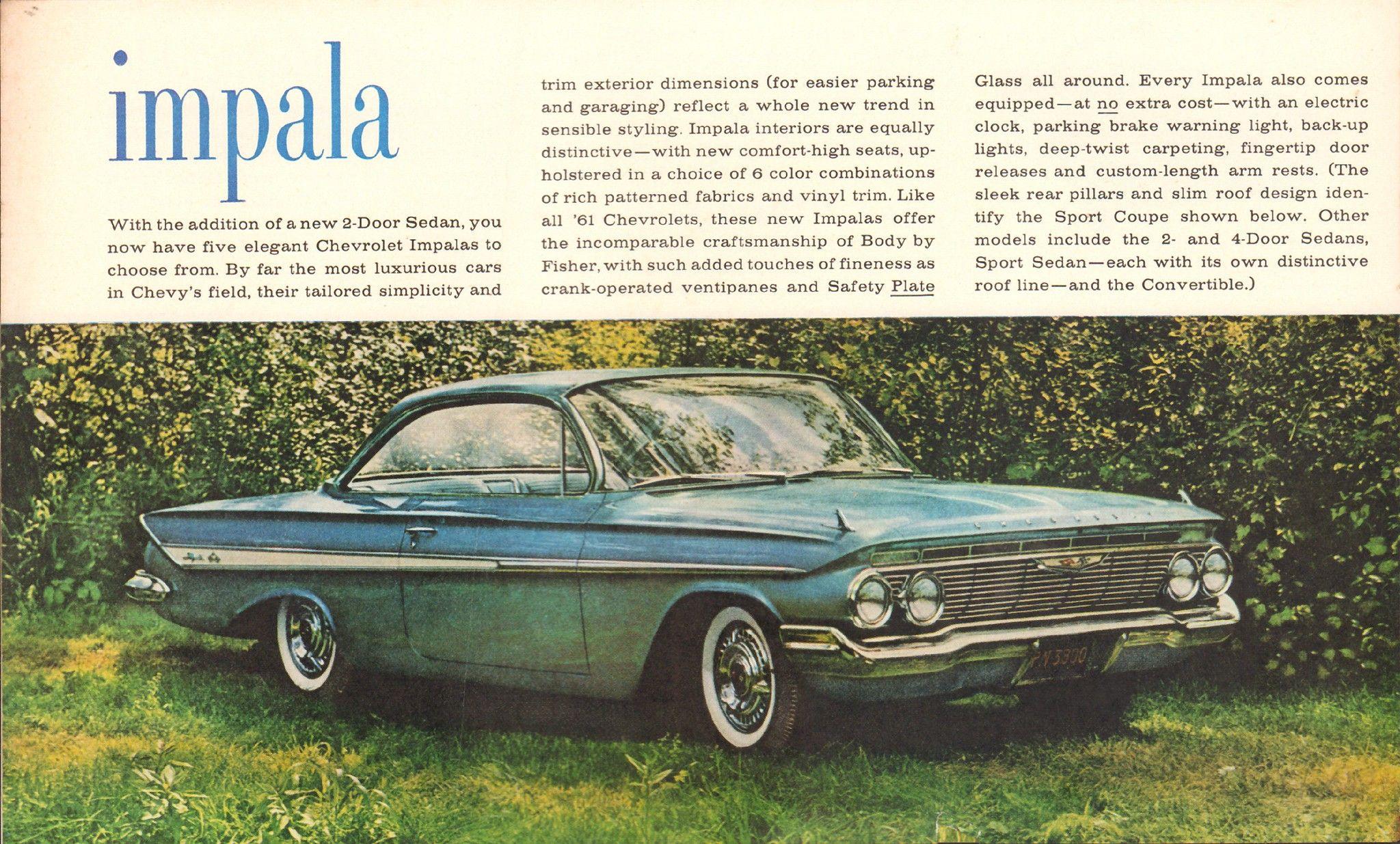 1961 Chevrolet Impala Advertisement Life Magazine October 10 1960 Impala Chevrolet Impala Old Ads