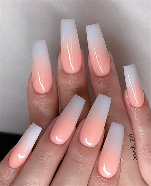 35 Best Ideas for Your Summer Ombre Nails – Nail Art Connect – Long Nails – #Art #Best #Connect # for # Ideas