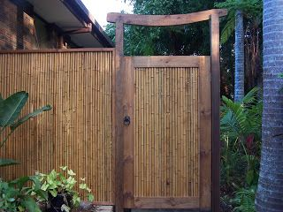 Doors Gates Timber Bamboo With Images Bamboo Fence