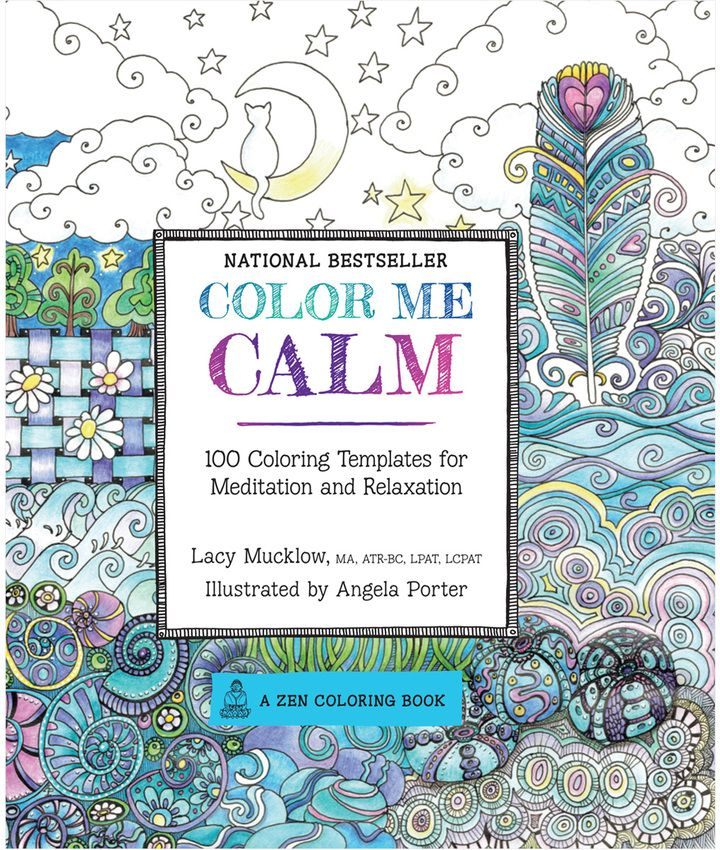 Quarto Publishing Color Me Calm Easy To Use. Relaxing For