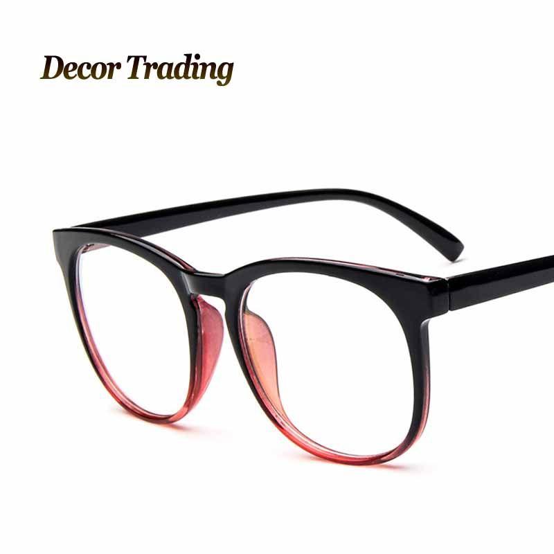 2015 fashion brand big glass frame square eye glasses frames for ...