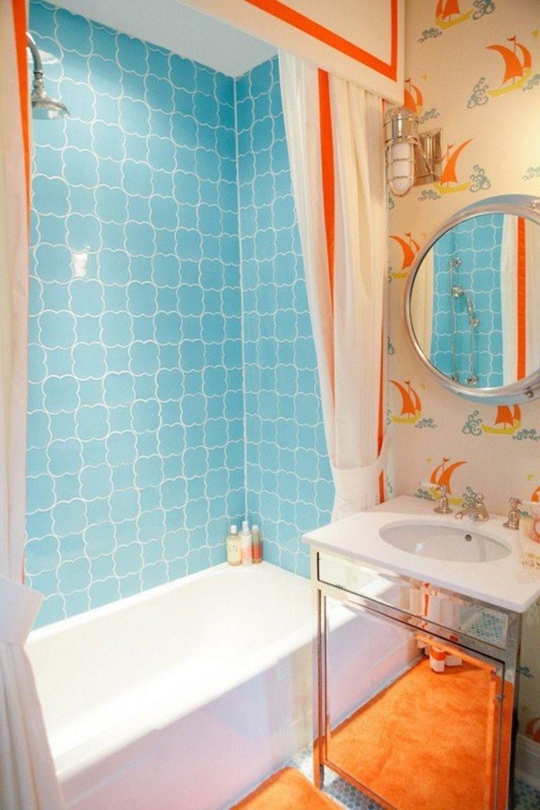 20 Amazing Orange Bathroom Designs Small Bathroom Design Mold In Bathroom Orange Bathrooms