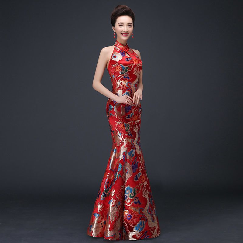 Cheap dress middleton, Buy Quality dress up plain dress directly from China  dress up casual dress Suppliers: Chinese Traditional Dress Red Qipao  Oriental ...