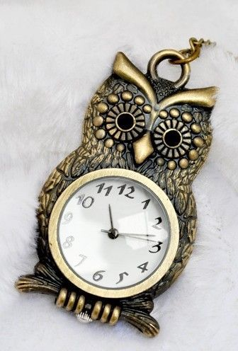 Owl clock necklace omg its so cute s t y l e pinterest owl clock necklace omg its so cute mozeypictures Images
