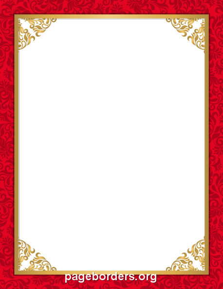 Printable Red Wedding Border Use The Border In Microsoft Word Or Other Programs For Creating Flyers Invitati Wedding Borders Page Borders Frame Border Design