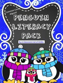 Penguin Literacy Pack & Craftivity Project (ELA Common Cor