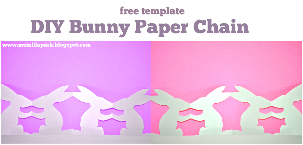 4+ FREE templates for bunny paper chains – adorable last-minute DIY Easter decoration