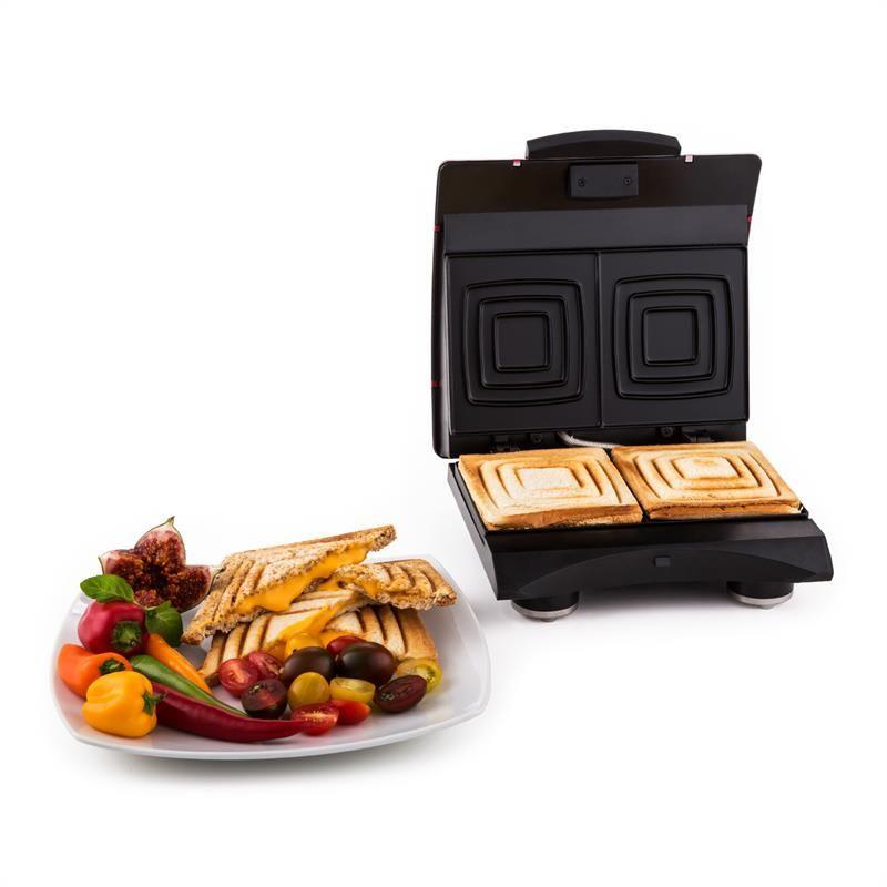 Klarstein Sandwich Buddy, Sandwichmaker mit 2 Heizflächen in rot #Sandwichmaker #Funcooking