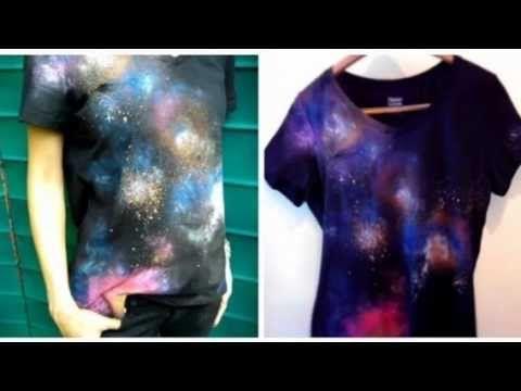 DIY Cósmica Galaxy Tutorial camisa Imprimir | Faça esta ideia de presente!