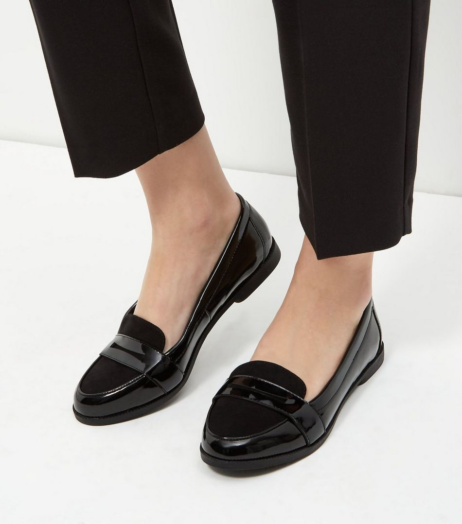 Womens black loafers new look