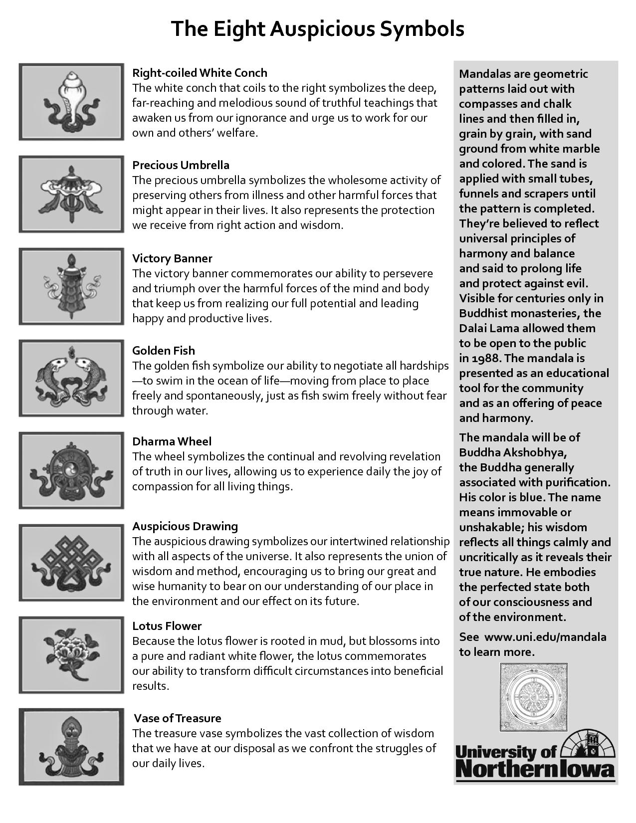 The 8 Auspicious Buddhist Symbols Buddhism In 2018 Pinterest