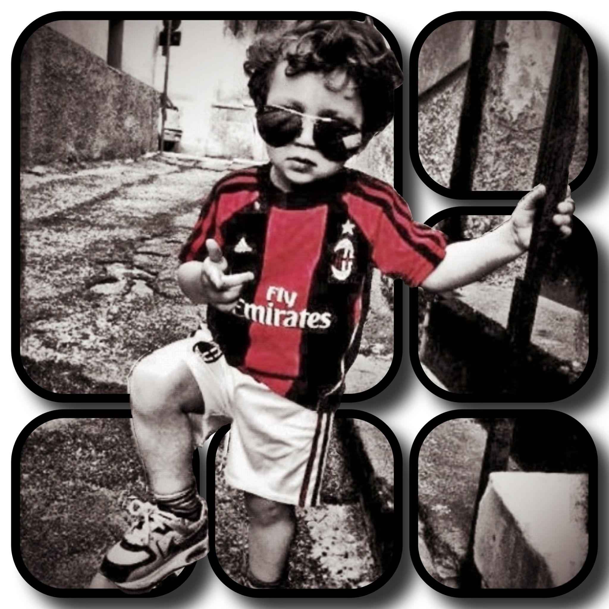 Baby In Ac Milan Kit Being Adorable Ac Milan Kit Baby Joey Ac Milan